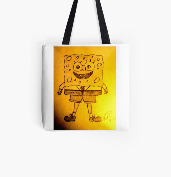 SPONGE BOB All Over Print Tote Bag