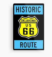 HISTORIC ROUTE 66: Vintage Highway Print Metal Print