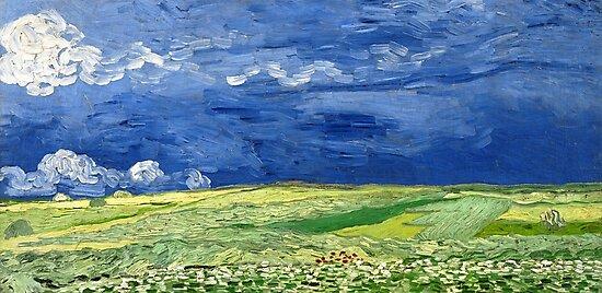 Wheatfield under thunderclouds by Igor Drondin