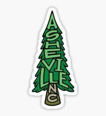 Asheville North Carolina Pine Tree Sticker