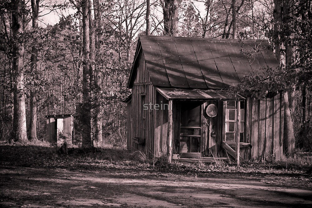 Starter Home with Outhouse-bw by steini