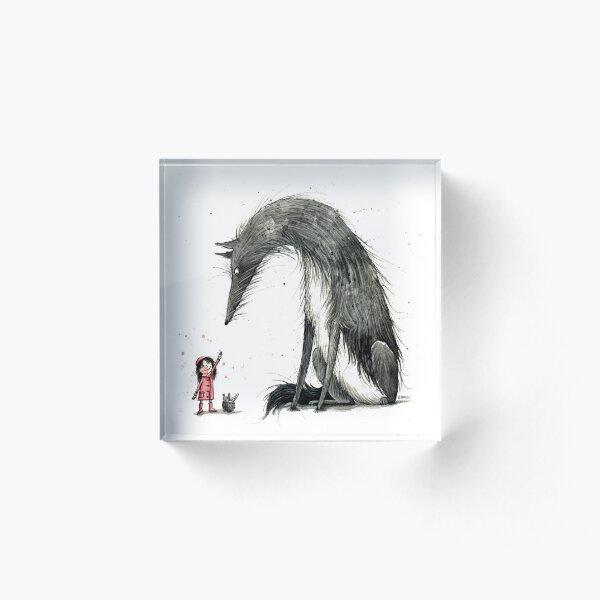 Rotkäppchen und der Wolf - Little Red Riding Hood Acrylblock