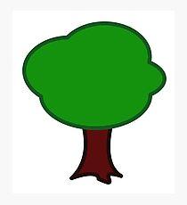 TREE, Cartoon, FUN, FUNNY, COMIC, JOKE, LAUGH, Photographic Print