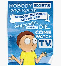 Rick and Morty Come Watch TV Poster