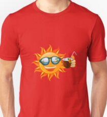 Funny sun tropical island Unisex T-Shirt