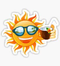 Funny sun tropical island Sticker