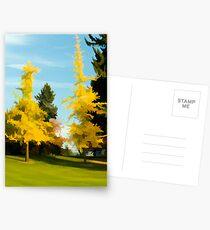 Golden Autumn Postcards