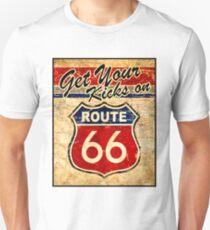 ROUTE 66: Vintage Highway Sign Print Unisex T-Shirt