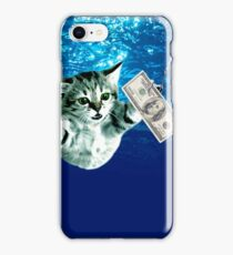 Cat Nevermind Album Cover Under Water Dollar Band iPhone Case/Skin