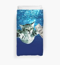 Cat Nevermind Album Cover Under Water Dollar Band Duvet Cover