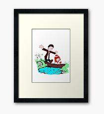 Amy & Doctor Framed Print