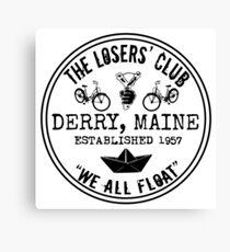 The Losers' Club Emblem - Black Text Canvas Print