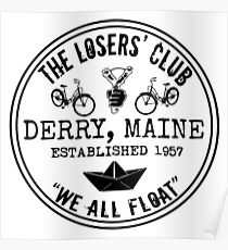 The Losers' Club Emblem - Black Text Poster