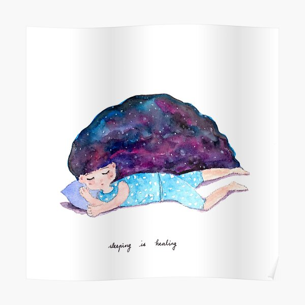 Sleeping is Healing Poster