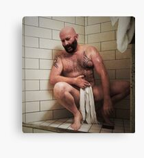 Troy T Scott- Wet Hairy Shower Time Canvas Print