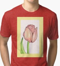 Tulip - Full colour Tri-blend T-Shirt