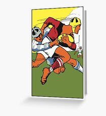 Retro rugby 1924 vector art Greeting Card