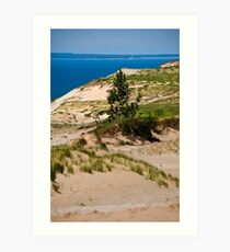 Lake Michigan Dunes Landscape Art Print