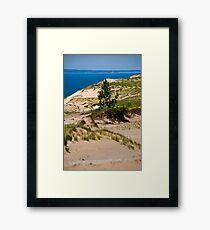 Lake Michigan Dunes Landscape Framed Print