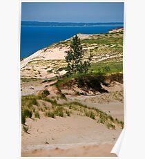 Lake Michigan Dunes Landscape Poster