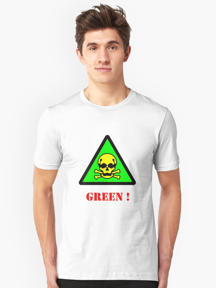 Green ? : T Shirt by Simon Griffiths Unisex T-Shirt Front