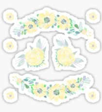 Watercolor Floral Stickers 5 Sticker