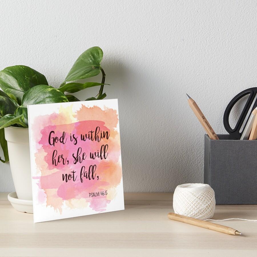 Inspirational Verses Art Board Print