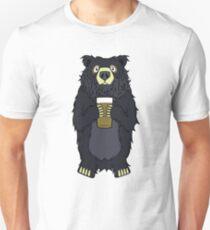 Black Bearded Beer Bear Unisex T-Shirt