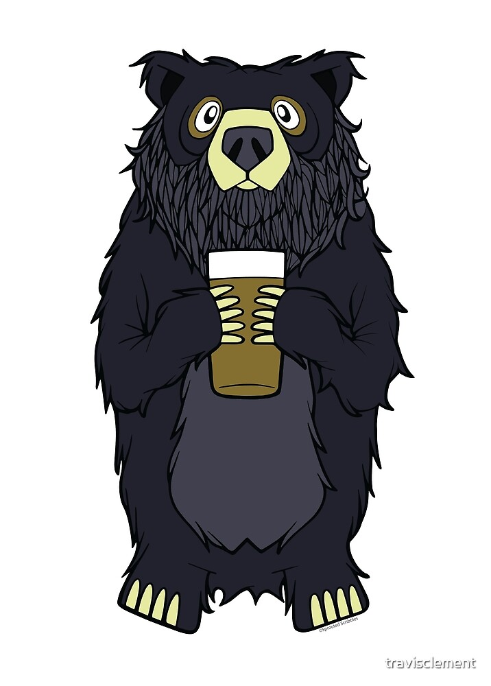 Black Bearded Beer Bear by travisclement