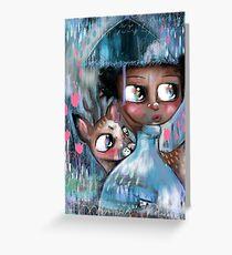 Oh! Deer, It's Raining  Greeting Card