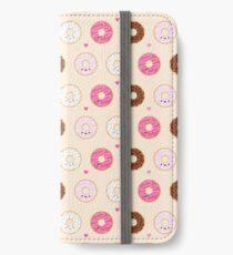 Cute Donuts Pattern on cream iPhone Wallet/Case/Skin