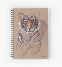 UNFINISHED BUSINESS - Original Tiger Drawing - Mixed Media (acrylic paint & pencil) Spiral Notebook
