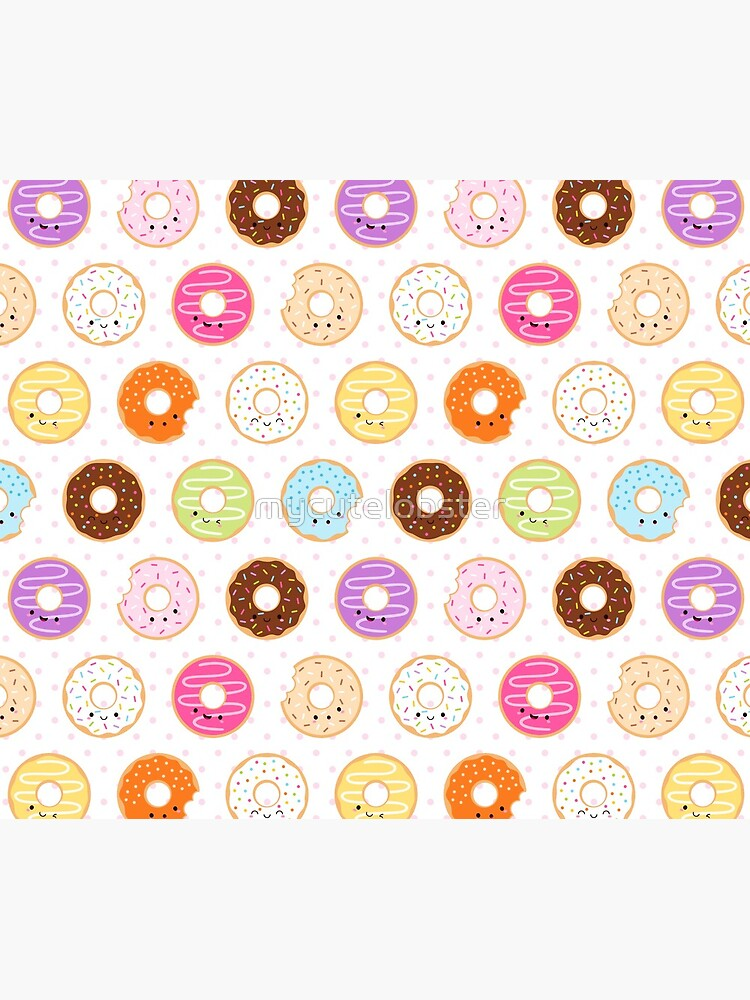 Happy Kawaii Donuts Pattern by mycutelobster