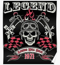 Legends Are Born In 1971 - 46th Birthday Poster