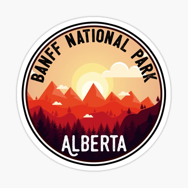 BANFF NATIONAL PARK ALBERTA CANADA Skiing Ski Mountain Mountains Snowboard Boating Hiking 8 Sticker