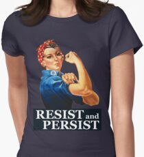 Resist and Persist Womens Fitted T-Shirt