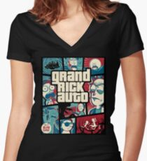 Grand Rick Auto Women's Fitted V-Neck T-Shirt