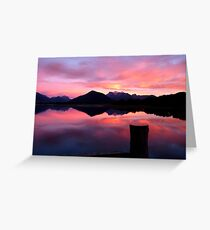 A Beautiful Day Dawns 2.. - Sunrise Glenorchy - NZ Greeting Card