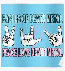 Eagles of Death Metal Lighting Bolt Poster