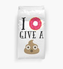Donut Give A Sh*t Funny Quote  Duvet Cover