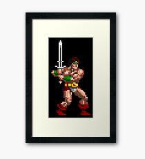 Rastan Pixel Art Framed Print
