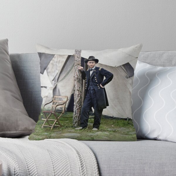 Ulysses S. Grant, Civil War general and 18th president of the US Throw Pillow