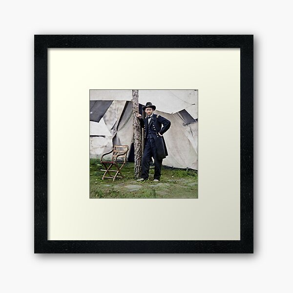 Ulysses S. Grant, Civil War general and 18th president of the US Framed Art Print