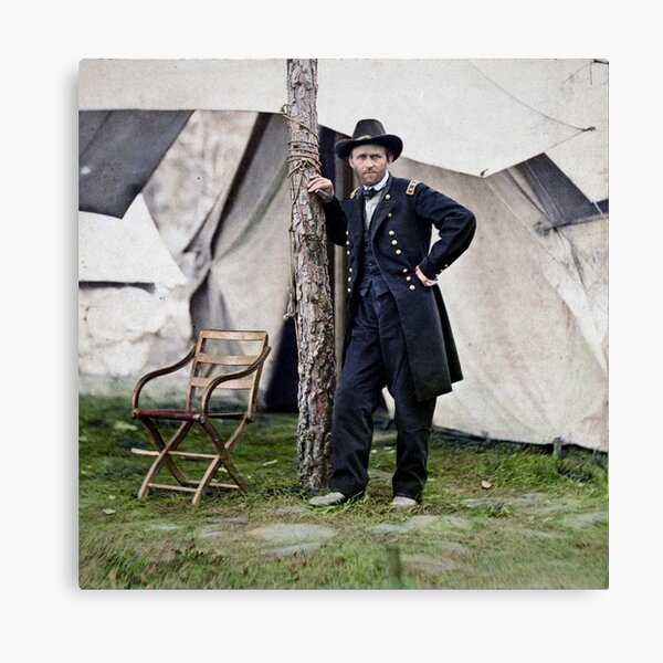 Ulysses S. Grant, Civil War general and 18th president of the US Canvas Print