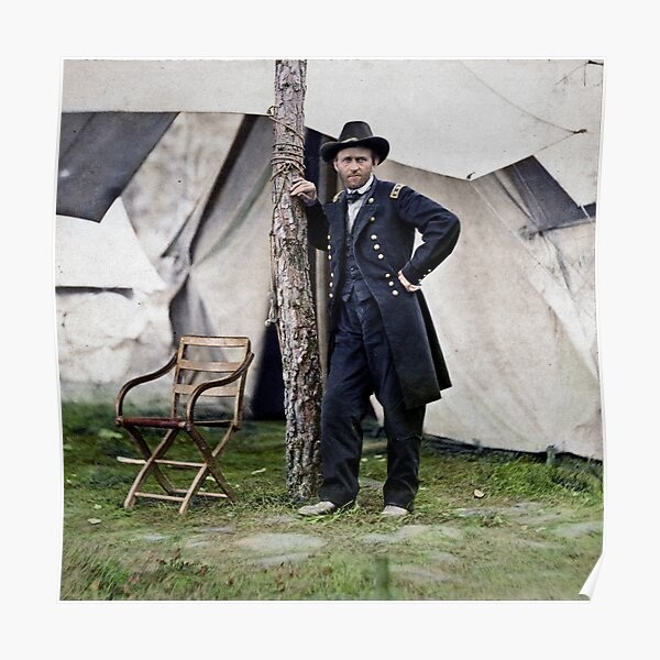 Ulysses S. Grant, Civil War general and 18th president of the US Poster