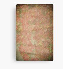 Vintage silk cotton leaves texture Canvas Print