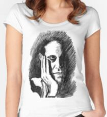 Pondering Man Women's Fitted Scoop T-Shirt