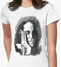 Pondering Man Women's Fitted T-Shirt