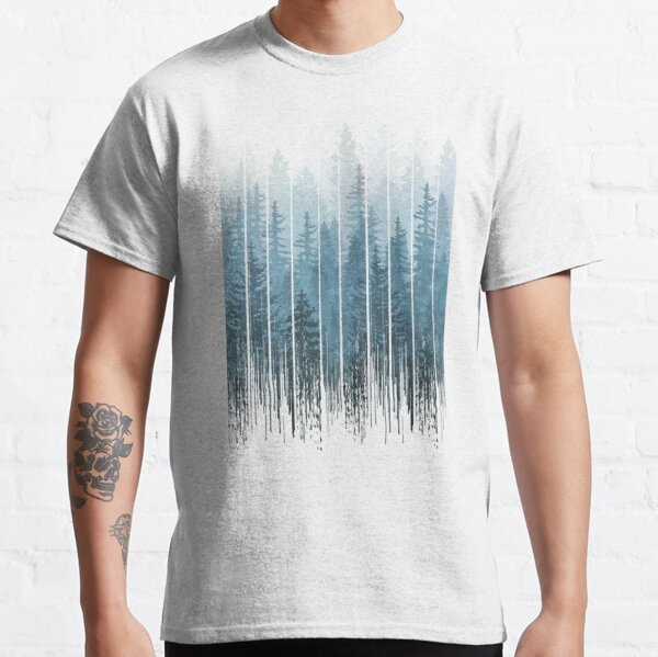 Grunge Dripping Turquoise Misty Forest T-shirt classique