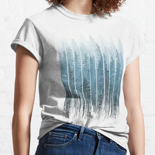 Grunge Dripping Turquoise Misty Forest Classic T-Shirt